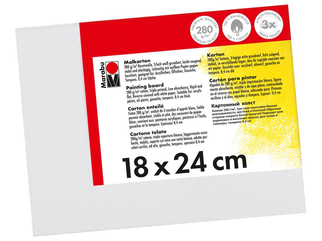 Lõuend papil Marabu 18x24cm